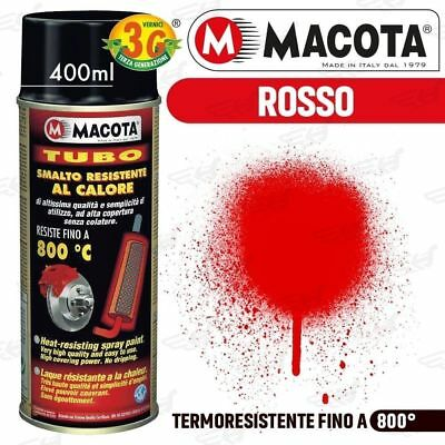 MACOTA Alte Temperature Vernice Spray Pinze Freno Marmitte Rosso