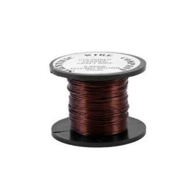 1 x Brown Plated Copper 0.9mm x 5m Round Craft Wire Coil W3012