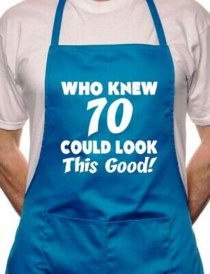 70th Birthday Who Knew 70 BBQ Cooking Funny Novelty Apron