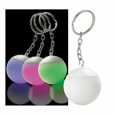 Colour Changing LED Keychain Bulb Mood Light Ball Keyring Key Pendant Bulk Lot