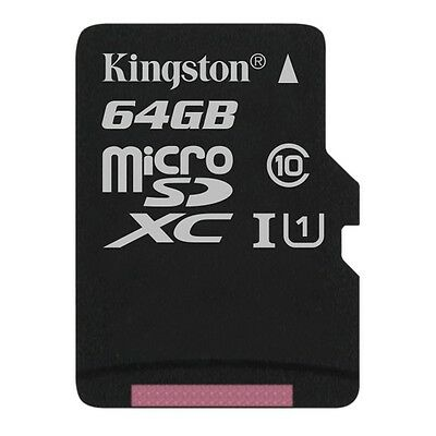 Kingston 64GB Micro SDXC Tf Memory Card Class 10 UHS-1 - 45MB/s For Mobile Phone