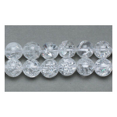 Packet of 6 x Clear Rock Crystal Quartz 8mm Plain Round Beads VP1680
