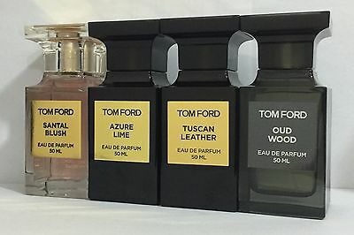 SANTAL BLUSH, AZURE LIME, TUSCAN LEATHER, OUD WOOD by Tom Ford 50 ML, 1.7 fl.oz.