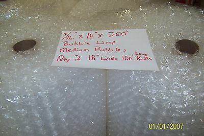 """5/16"""" WP Medium Bubble. Wrap my Padding Roll. 200' x 18"""" Wide 200FT Perf 12"""""""