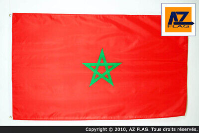 MOROCCO FLAG 3' x 5' - MOROCCAN FLAGS 90 x 150 cm - BANNER 3x5 ft High quality -