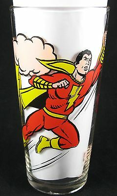 Vintage 1978 Shazam Pepsi Promotional Glass DC Comics Promo Superhero - Mint