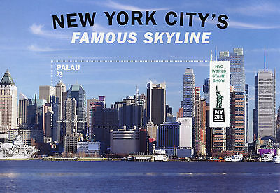 Palau 2016 MNH New York City Famous Skyline NY2016 1v S/S Skyscrapers Stamps