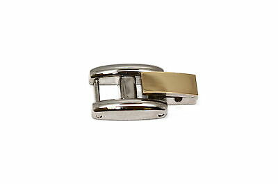 Stainless Steel Two Tone Fold Over Clasp Womens Watch Bracelet Extender Link