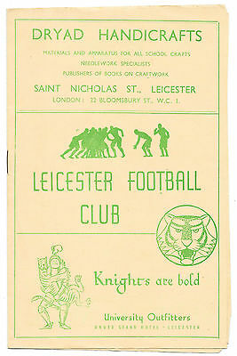 Leicester v Plymouth Albion, 1946/47 -  Match Programme.