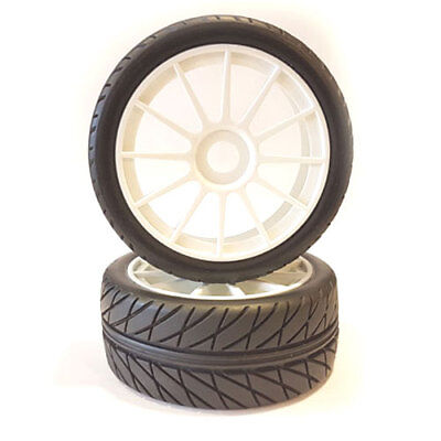 Fastrax 1/8th Premounted Buggy Tyres 'Inter Tread/12 Spoke' - FAST0025