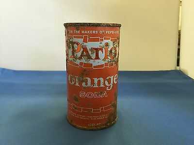 Patio Orange Soda Empty Can Vintage Original Patio Soda Can From The Makers Of