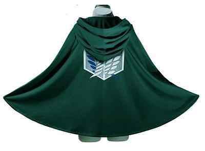 Attack on Titan Anime Shingeki no Kyojin Cloak Cape Cosplay Halloween Size Large