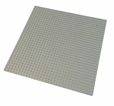 """LEGO Compatible Gray Baseplate (10x10"""") 32x32 Studs New Base Plate # 3811"""