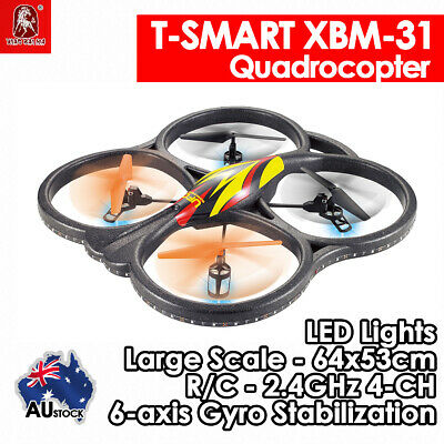 6-Axis Drone Quadcopter Large T-SMART XBM-31 2.4Ghz 4CH RC Air RTF w/LED UFO