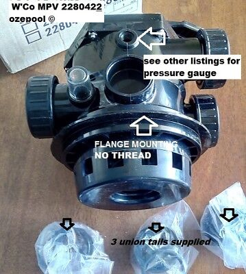 Waterco™-CLAMP ON Multiport Valve Complete 40mm, Pool Sand Filter MPV GENUINE