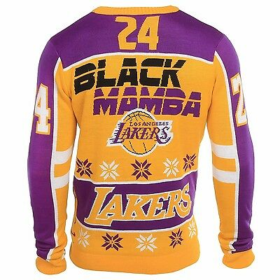 NBA Basketball UGLY Sweater Christmas Pullover LOS ANGELES LAKERS Kobe Bryant 24