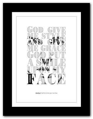 ❤ COLDPLAY ❤ God Put A Smile Upon Your Face ❤ song lyrics poster art print #9