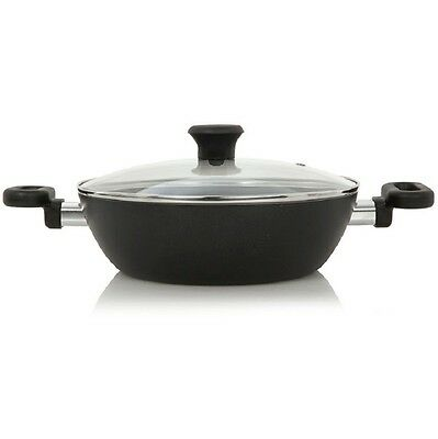 Tefal B1415444 Madras Collection 30cm Deep Shape Kadai with Glass Lid