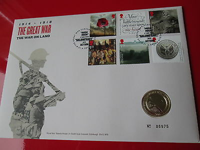 2016 The Great War 1914-1918 Army BUNC  £2 Two Pound Coin Cover PNC