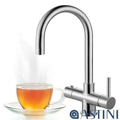 Astini Bollente 3 In 1 Ambient & Hot Water Stainles Steel Kitchen Sink Mixer Tap