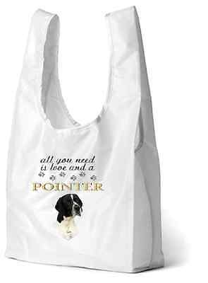 English Pointer Dog Printed Design Eco-Friendly Foldable Shopping Bag BEPOINTER3