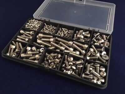 Bolts for Bikes Bicycle Stainless Steel A2 Assorted Allen Screws Kit of 370pcs