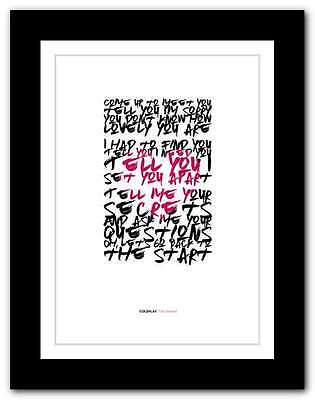 ❤ COLDPLAY - The Scientist ❤ song lyrics poster art edition typography print #19