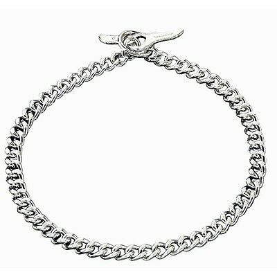 Herm Sprenger Chrome Flat Polished Link Chain Dog Collar with Toggle 3.0mm