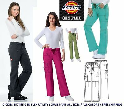 Dickies 857455 Gen Flex Cargo Scrub Pant All Sizes & Colors Free Shipping!!!