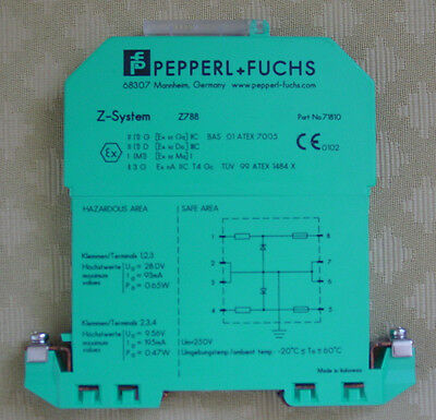 Pepperl Fuchs Safe Snap Barrier Z722 Zenerbarriere Zener Barrier 71784 Ex-Schutz