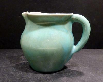 North Carolina Pisgah Forest Mottled Turquoise and Green Glaze Pitcher - MINT