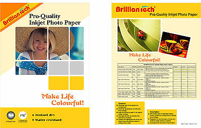 Premium Glossy Finest Quality Photo Paper A4  20-100 sheets -200 GSM