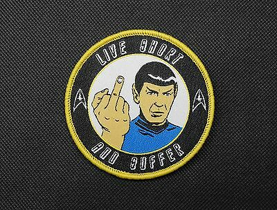 Nihilistic Spock Morale Patch Star Trek Captain Spock Hook & Loop