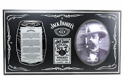 Genuine JACK DANIELS Framed BARREL PLAQUE - Man Cave Kitchen Sign Shed Bar