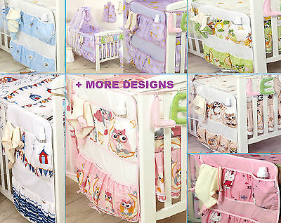 Baby Boy/Girl Cot Tidy - Organiser -Nursery Cot Bed Set -
