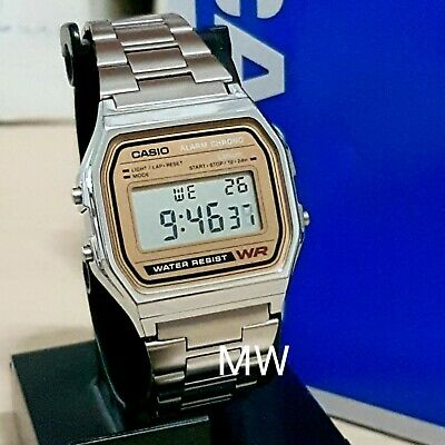 Casio Retro Classic Men's A158WEA-9 Alarm Stopwatch Watch Unisex Illuminator