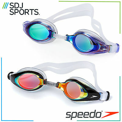 Speedo Mariner Mirror Adult Swimming Goggles Anti-Fog Uv Protection Lenses