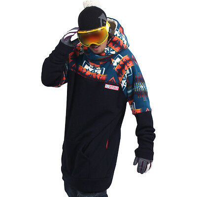16-17 New arrival December long tall hoodie ski snowboard sports-Indiana navy