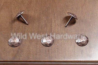 """Clavos Round, rustic hammered nails, 3/4"""" dia. antique copper,  Lot of 6"""