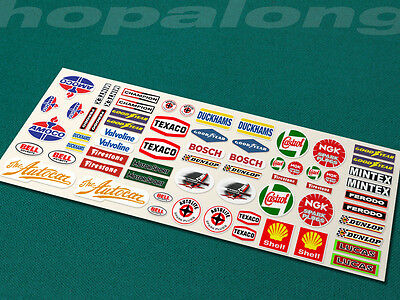 Scalextric/Slot Car Sponsor Sticker Decals x66. ps203
