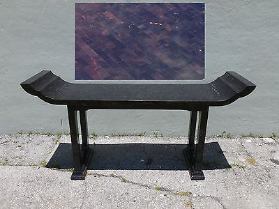 70's Stunning Maitland Smith Tessellated Horn Console Table Manner James Mont