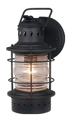 Hyannis 5W Outdoor Wall Light Sconce Nautical Textured Black Vaxcel OW37051TB
