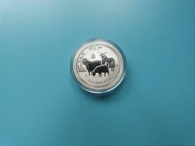 """Australia 2015 """"Year of the Goat """"1/2 oz .999 Solid Fine Silver Coin 50 cents"""