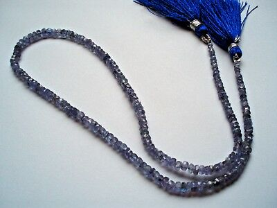 40cts Tanzanite Faceted Rondelles  2x1 to 3x2mm 38cm strand Jewellery Maker TV