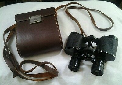 "VINTAGE TROUVILLE 8x25 BINOCULARS w/ matching case, ""Made in France"""