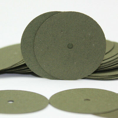 100 PCS Green Resin Sand Piece Seperating Discs Dental Grinding Polishing Discs