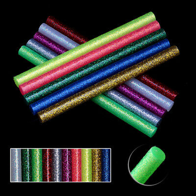 Multi-colours Glitter Hot Melt Glue Gun Sticks for Arts Craft Wedding Card 5pcs