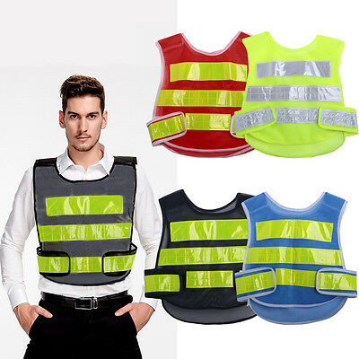 High Visibility Reflective Vest Construction Traffic/Warehouse Safety Security