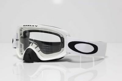 Oakley NEW 2016 O2 MX Matte White Clear Lens MTB BMX Motocross Dirt Bike Goggles