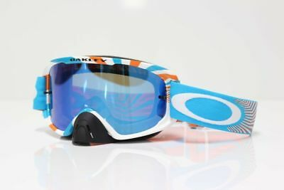 Oakley NEW 2016 O2 MX RPM Orange Blue Ice Iridium Motocross Dirt Bike Goggles
